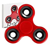 #2: Premsons Fidget Spinner 608 Four Bearing Ultra Speed with Silver Steel Wing Bearings (Black)