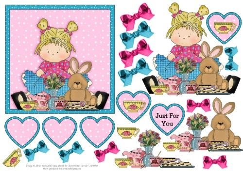 Bunny and Me for Tea - Step by Step by Julene Harris