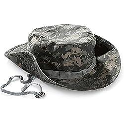 Leisial Sombrero Estampado De Camuflaje Del Ejército de Ala Ancha Borde Redondo Anti-UV Algodón Outdoor Acampada Senderismo Deporte al Aire Libre Gorra Montaña para Adulto Unisexo (Color - 1)