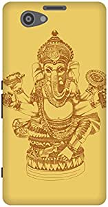 The Racoon Lean Gold Ganesh hard plastic printed back case / cover for Sony Xperia Z1 Compact