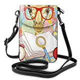 Photo de Women Mini Purse Crossbody of Cell Phone,Hipster Giraffe Animal with Glasses and Cap Geek Student in Education School par Nisdsgd