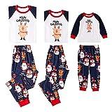 2f53e228ec CHIYEEE Famiglia Natale Pigiama Pantaloni Impostato Uomo Donna Bambini  Manica Lunga Biancheria da Notte Nightwear Natalizio