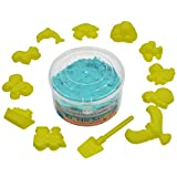 #7: AsianHobbyCrafts Kinetic Sand with 12 Shaping Tools: Color - Blue : Wt - 300gm : for Sand Modeling, Kids' Activities, DIY Crafts