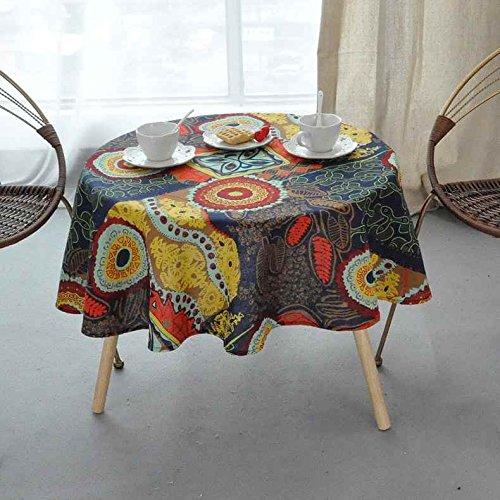 Kleine Baumwolle-feld (AGECC Die Tischdecke Aus Baumwolle Feld Kleine Tischdecke Retro Runde Kleine Runde Tischdecke Tischdecke Park J-140 * 140 cm)