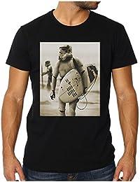 OM3 - STORMTROOPER SURFING - Men's Slim Fit T-Shirt (FITTED!!!) DARTH VADER GEEK