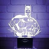 Batman Lampe Déco–Dark Knight Déco Lumière Veilleuse DC Comics Lampe décorative