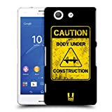 Head Case Designs Caution Fitness Motivation Ruckseite Hülle für Sony Xperia Z3 Compact / D5803