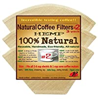 P&F(3 pack)Natural Reusable Cone Coffee Filters #2 Melitta Style, No Harmful Chemical, All Natural