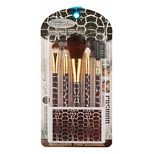 Davidsonne Lot de 5 outil de maquillage Brosse Kit de voyage Tortue