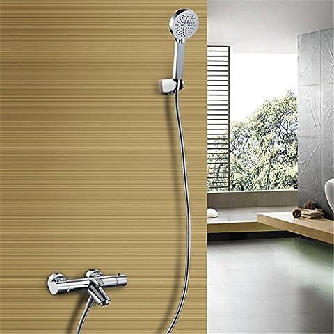 CAC Kit de ducha de baño de cromo pulido C618