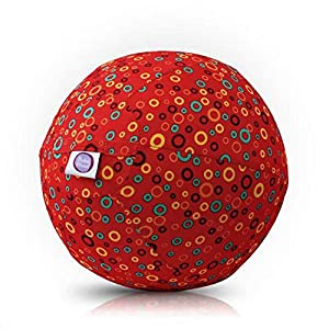 BUBABLOON BB de 17703Bubbles (Red)-Globo móvil, Rojo con Colores, Varios iedengroßen círculos, 30cm Diámetro