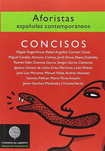 Concisos : aforistas españoles contemporáneos