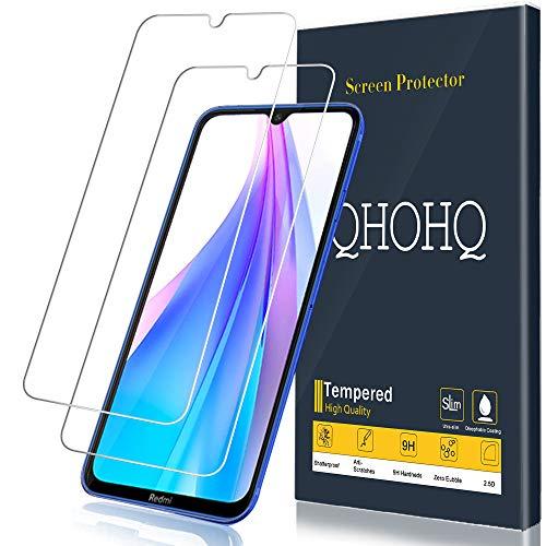 QHOHQ Vetro Temperato per Xiaomi Redmi Note 8T, [2 Pezzi] [Garanzia a Vita] [Durezza 9H] Alta Definizione Ultrasottile Pellicola Protettiva