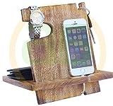 Offres de Thanksgiving- Station d'accueil Android en bois de Mango, Cadeaux pour le couple 50e anniversaire, Cadeaux drôles de la fête des pères, iPhone 6 plus, 6, 6, 6, 5, 5, 4, Samsung Galaxy
