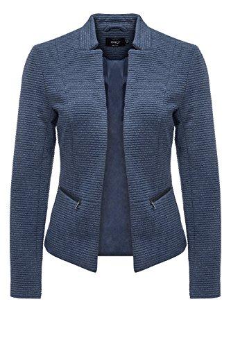 ONLY Damen Blazer Anzugjacke Businessjacke Anzug Kostüm Sakko Jackett (L, Insignia Blue)