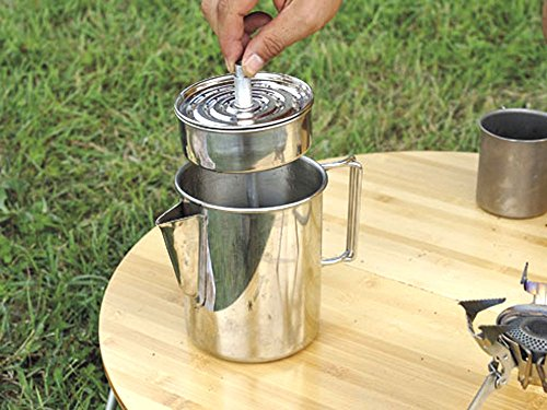 Snow Peak Stainless Coffee Percolator, 30.4oz, Perfect for the Large Party, Makes Six Cups of Coffee at a Time, PR-006…