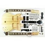Cherrystone 4260180886191 kompletter Bausatz für Double Neck E-Gitarre