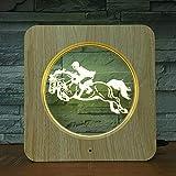 Lumière de Nuit en Plastique Concours d'équitation Jeu personnalisé Lampe Lampe de Table Enfants Couleur Cadeau décoration de la Maison