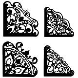 Stanzschablone, Einsteck-Ecken, 6,9cm x 6,9cm & 5,9cm x 5,9cm, 4 Stück