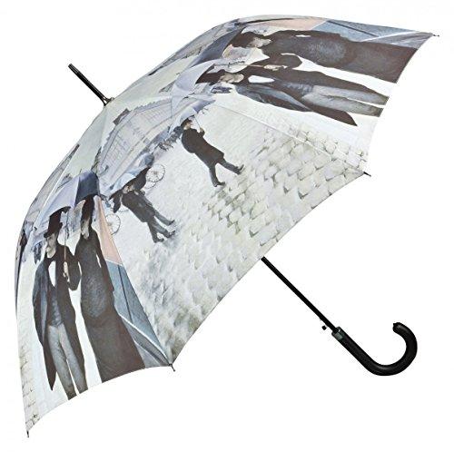 Regenschirm mit Motiv - Caillebotte - Paris im Regen