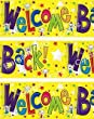 Welcome Back Party Banner Party Bunting