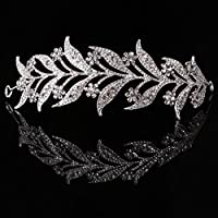 AniYY Leaf Style Crown Bride Wedding Tiara Princess Jewelry Women Luxury Queen Decor