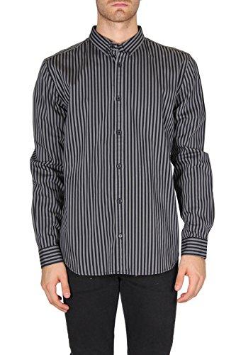 cheap-monday-camicie-maniche-lunghe-uomo-0245350t-collo-classico-righe-grigio-medio-l