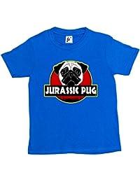 Fancy A Snuggle Jurassic Pug Dinosaur Cult Kids Boys / Girls T-Shirt