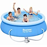 Bestway 8ft x 26in (2.44m x 66cm) Fast Set Swimming Pool with filter pump #57100
