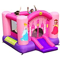 Happy Hop 9201P Princess Slide and Hoop Bouncer, Multicolour