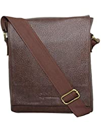 Sphinx Artificial Leather Long Flap Cross-Body Sling Bag For Men/Boys - Dark Brown (L X B X H: 25 X 22 X 7 Cm)