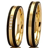 Trauringe Carbon / 375/- Apricotgold 88453-040 - Carbon - Gold