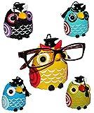 Unbekannt 1 Stück __ Brillenhalter -  Verschiedene Eulen  - stabil aus Kunstharz - universal Größe - für Erwachsene & Kinder / Brillenhalterung - lustiger Brillenstän..