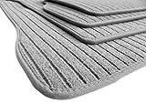 kfzpremiumteile24 Fußmatten / Velours RIPS Automatten Original Qualität Stoffmatten 4-teilig silbergrau
