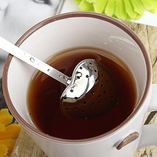 Edelstahl-Heart-Shaped Tee-Sieb-Filter Löffel