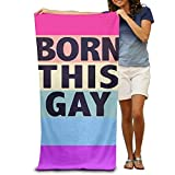 NDJHEH Strandtücher Handtücher Gay Pride Born This Gay Adults Cotton Beach Towel 31 X 51-Inch
