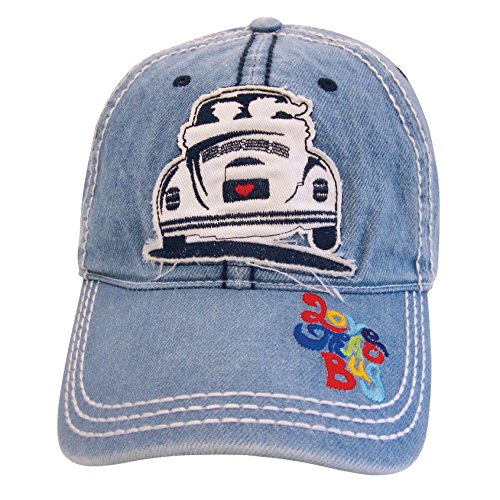 VW Collection by BRISA Baseball Cap mit VW Käfer Motiv (Jeansblau)