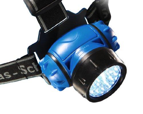 as - Schwabe LichtFabrik LED-Stirnlampe HD 28 mit 4 Leuchtstufen, blau, 42805