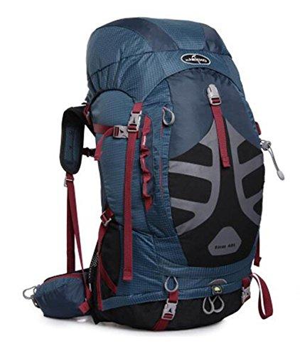 Spalla uomini e donne alpinismo borse 48L escursione esterno di borsa zaino borsa ( Colore : Nero , dimensioni : 48L ) Blu