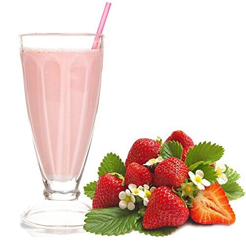 lchshake Pulver 1 Kg Gino Gelati zum Milchshakes selber machen (Erdbeer-milchshakes)