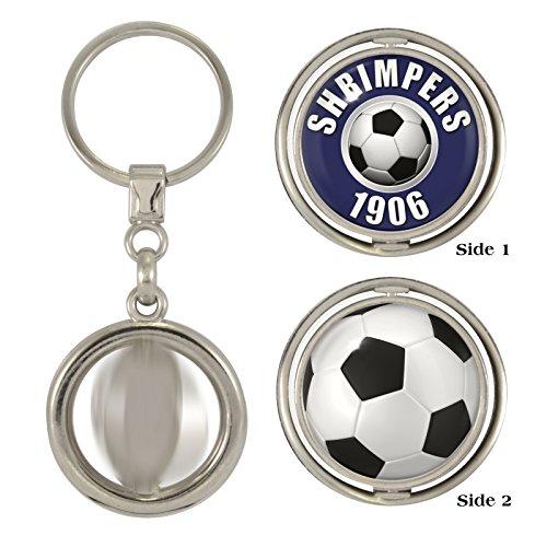 1StopShops Shrimpers 1906   Football 2-Sided Spinner Keyring