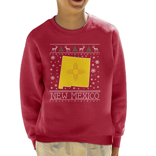 Coto7 New Mexico Christmas Knit Pattern Kid's Sweatshirt