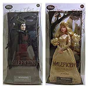 Disney Store MALEFICENT & AURORA DOLL SET, FILM COLLECTION DOLLS by Disney (English Manual)