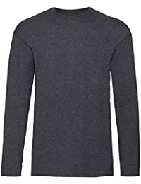 Fruit Of The Loom Kids Childrens Long Sleeve Valueweight T-Shirt