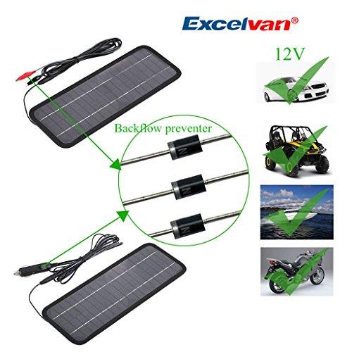 Pannello Solare Auto : Excelvan v w portatile pannello solare fotovoltaico