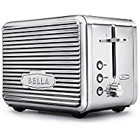 2-Slice , Chrome : BELLA LINEA 2 Slice Toaster with Extra Wide Slot, Color Polished Stainless Steel
