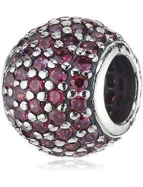 Pandora 791051CZR rote Pave Kugel Zirkonia Charm