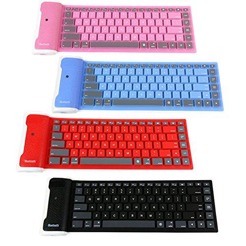 Bluetooth Wireless Tastatur, tragbar Wasserdicht Silikon Material 85Schlüssel Silent Licht Clavier (für Tablet, Smartphone, Laptop, iPad, iOS, Android ()