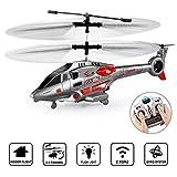 GoStock Hélicoptère RC, Hélicoptère Télécommandé Intérieur à 3,5 Canaux avec Gyroscope et éclairage LED Cadeau Jouet Avion RC pour Enfants et Adultes