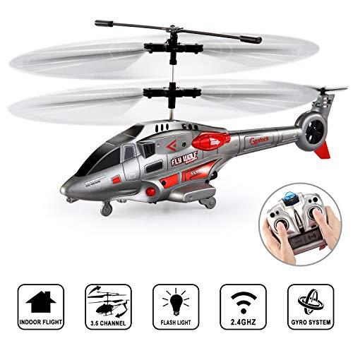 GoStock RC Hubschrauber 3.5 Kanal Innen Ferngesteuerter Hubschrauber Ferngesteuertes Fugzeug mit Gyro und LED-Licht RC Flugzeuge Spielzeug Geschenk für Kinder und Erwachsene